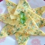 韭苔鸡蛋煎饼
