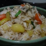 胡萝卜马铃薯海鲜饭