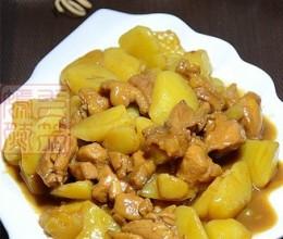 鸡腿肉炖土豆