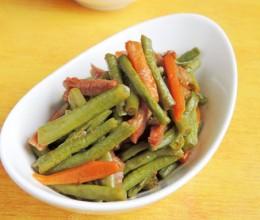 腊肉炒豇豆