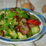 腊肉炒秋葵