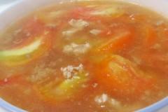西红柿肉末汤