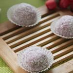 紫薯蜜豆糯米糍