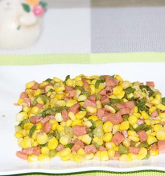 火腿青椒玉米粒