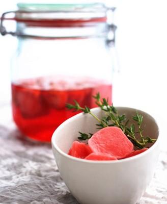 浸渍樱桃萝卜
