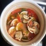 番茄什菌蛤蜊汤