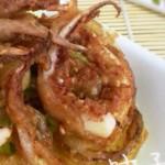 炸洋葱圈和鱿鱼须