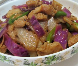 凉薯紫甘蓝炒肉