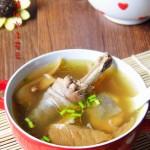 元蘑燉雞湯
