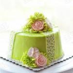 奶油霜花朵蛋糕