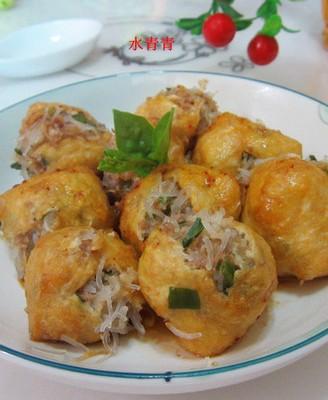 粉丝猪肉酿豆腐