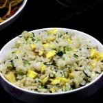 菜心炒米饭