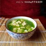 虾皮青菜豆腐羹