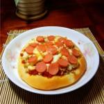 火腿肠芝士烤饼