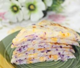 牛奶紫甘蓝芝士饼