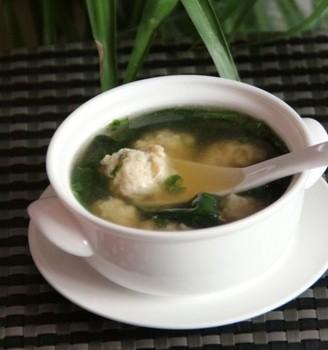 菠菜肉丸汤