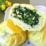 鸡蛋小白菜包子