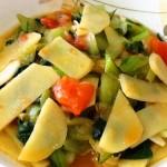 素炒油菜土豆片