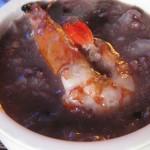 鲜虾糙米黑米粥