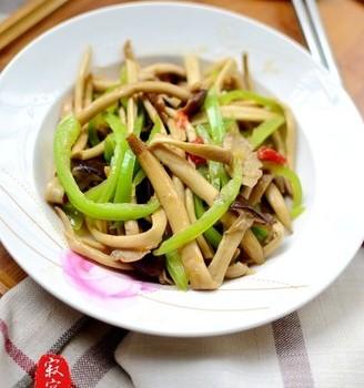 清炒茶树菇