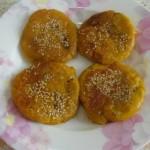 南瓜豆沙糯米饼