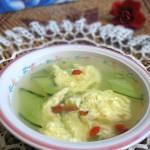 黄瓜枸杞鸡蛋汤