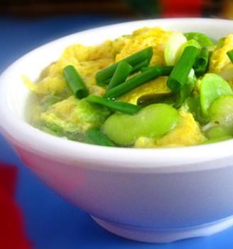 蚕豆米鸡蛋汤