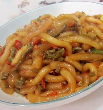 咸豆角炒粉条