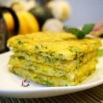 芹菜叶米饼