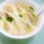 白玉菇蛋花汤