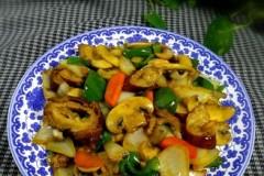 洋葱口蘑煸大肠