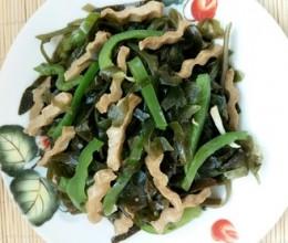 豆干青椒炒海带丝
