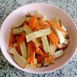 素鸡炒胡萝卜片