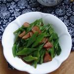 香肠炒扁豆