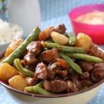 土豆豆角燉五花肉