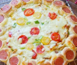 花边鸡肉披萨
