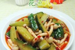 白玉菇炒青瓜