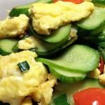 黄瓜红椒炒鸡蛋#肉肉厨