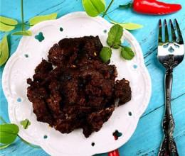 老挝美食牛干巴(牛肉干)