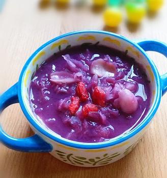 紫薯百合银耳粥