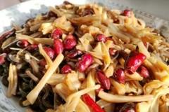 蕨根粉拌黄花菜,清热解毒美容菜