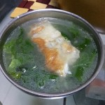 枸杞叶鱼骨汤
