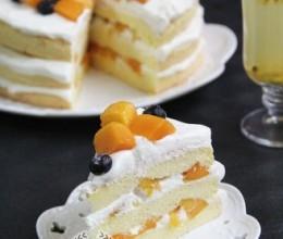 香气浓郁的百香果芒果祼蛋糕