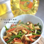 双椒素炒杏鲍菇