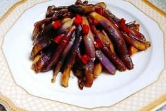 榨菜肉丝煎茄子