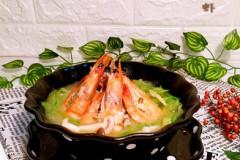 青萝卜丝炖虾