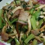 香芹炒豆干腊肉