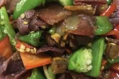 青红椒炒腊肉