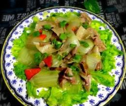 白菜熘肚片