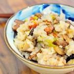 多彩腊肉焖杂粮饭